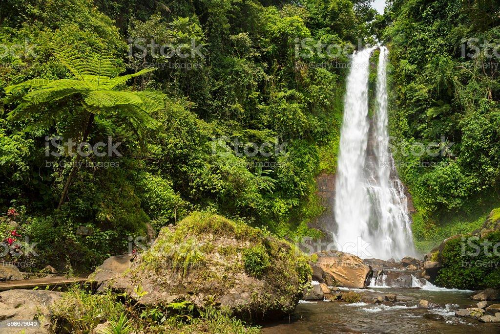 Waterfall Git Git, Bali, Indonesia stock photo