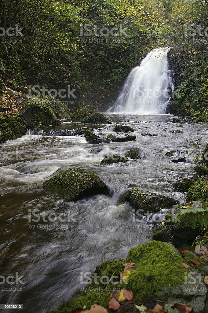 Waterfall - Gleno 2 royalty-free stock photo