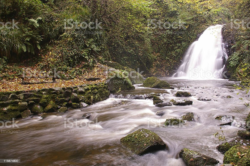 Waterfall - Gleno royalty-free stock photo