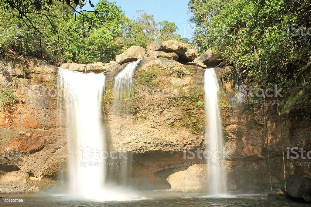 Waterfall haewsuwat Lizenzfreies stock-foto