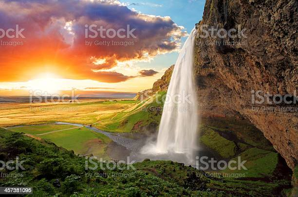 Photo of Waterfall, Iceland - Seljalandsfoss