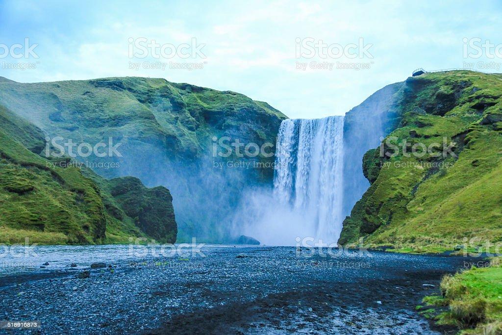 Waterfall, Iceland - Seljalandsfoss stock photo