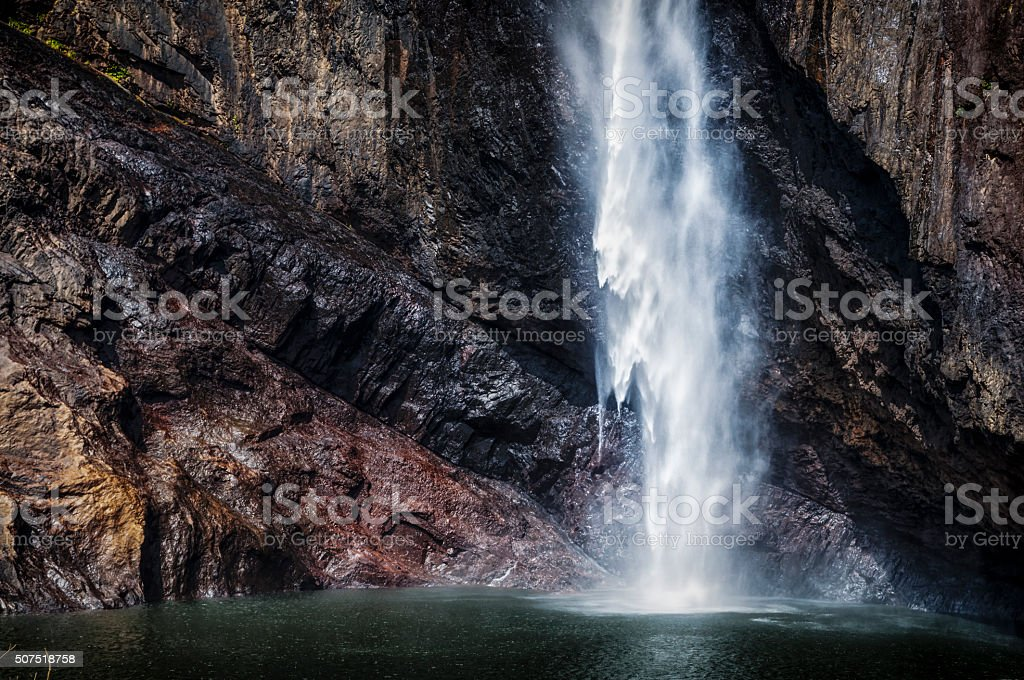 Waterfall in Australia stock photo