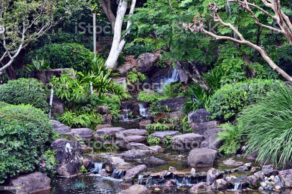 Waterfall in Australian National Park stock photo
