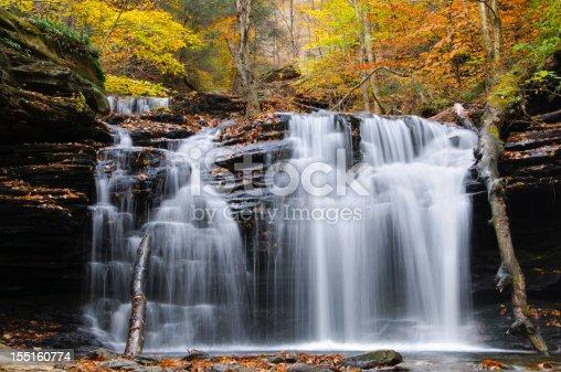 A waterfall at Ricketts Glen State Park, Pennsylvania.