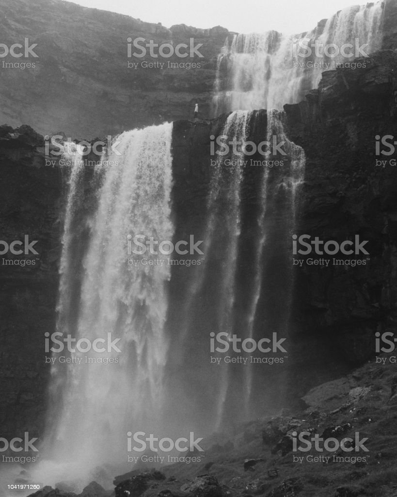 Sensational Waterfall In Black And White Stock Photo Download Image Theyellowbook Wood Chair Design Ideas Theyellowbookinfo