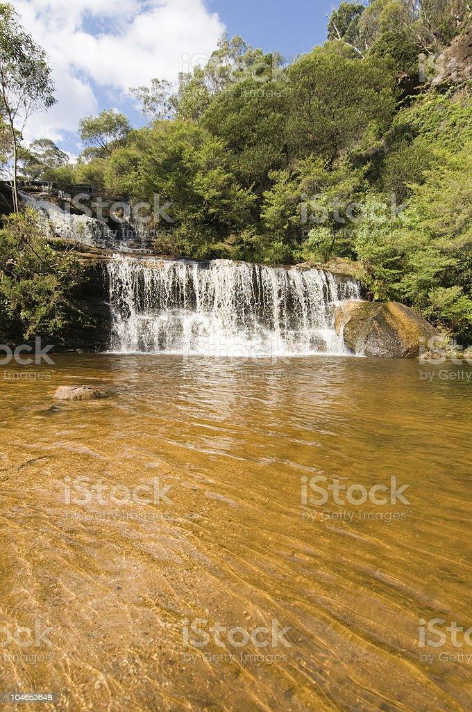 Waterfall in Blue Mountains, Australia stock photo