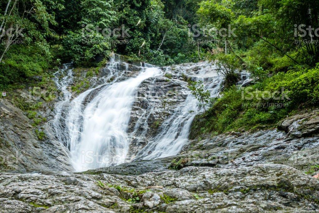 waterfall in cameron highland Malaysia stock photo