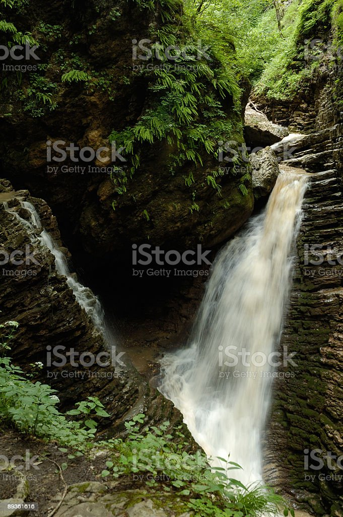 Chute d'eau de canyon photo libre de droits