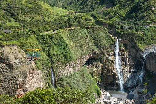 istock Waterfall in Cascades route, Banos, Ecuador 694283200