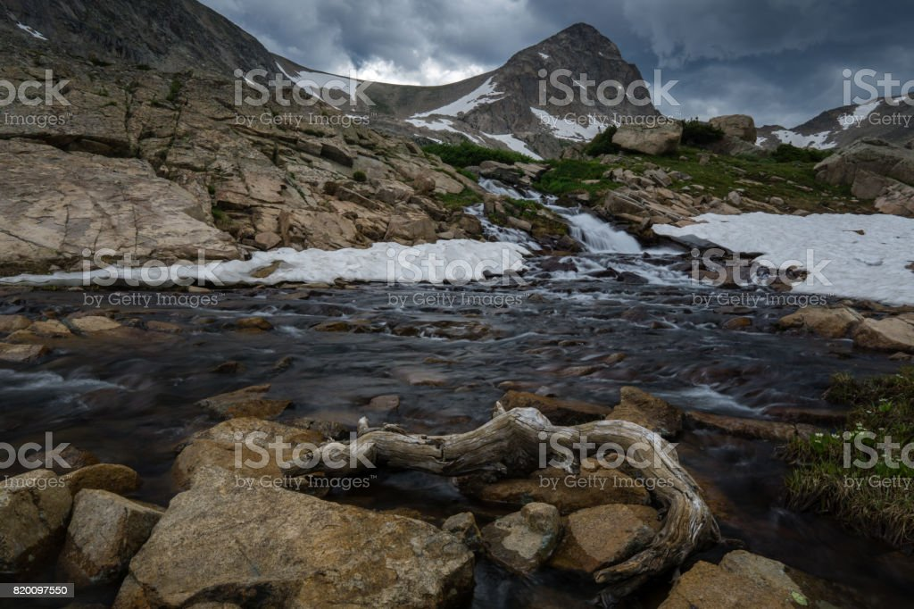 Waterfall in Colorado stock photo