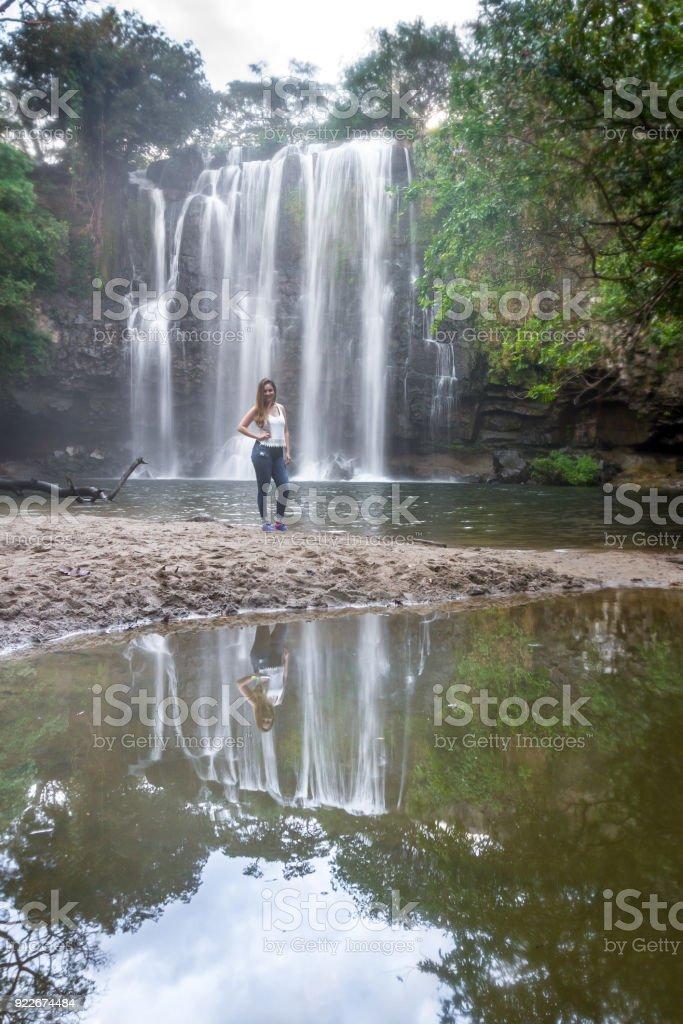 Waterfall in Costa Rica, Llanos del Cortes stock photo