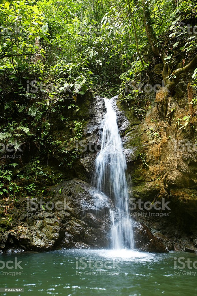 Waterfall in Costa Rica royalty-free stock photo