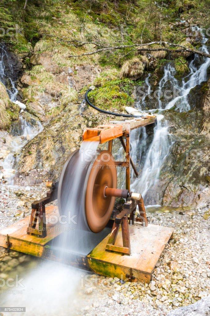 Waterfall in creek stock photo