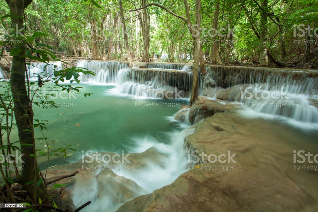 Waterfall in forest at thailand stock photo