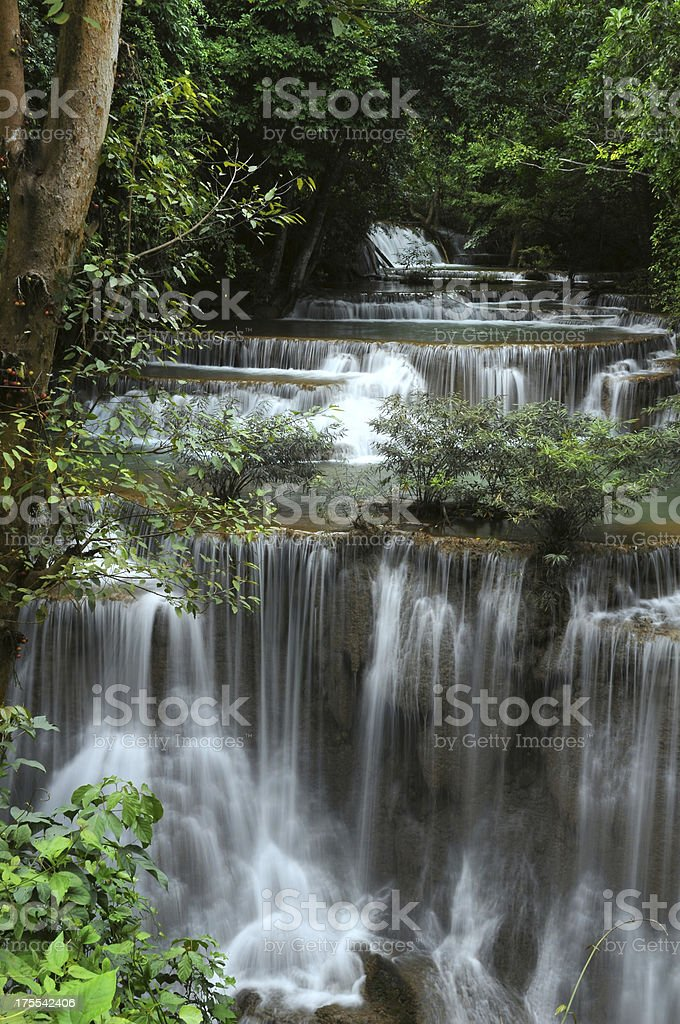 Waterfall in forest of Thailand royalty-free stock photo