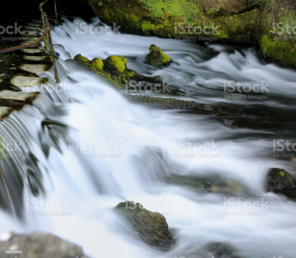 waterfall in forest royalty-free stock photo