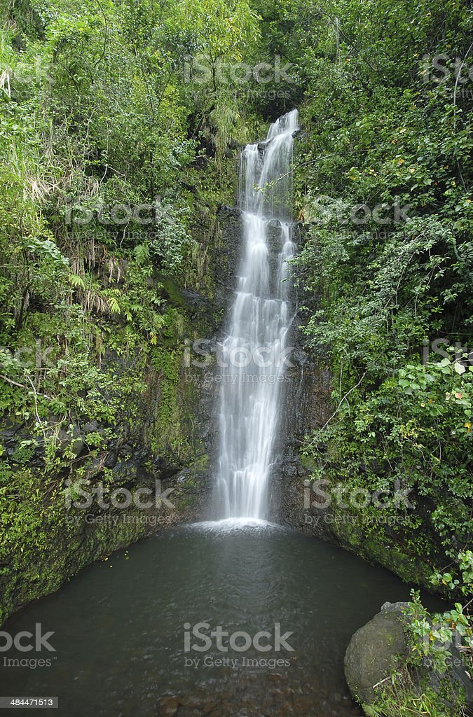 Waterfall in Haleakala National Park, Hawaii, USA stock photo