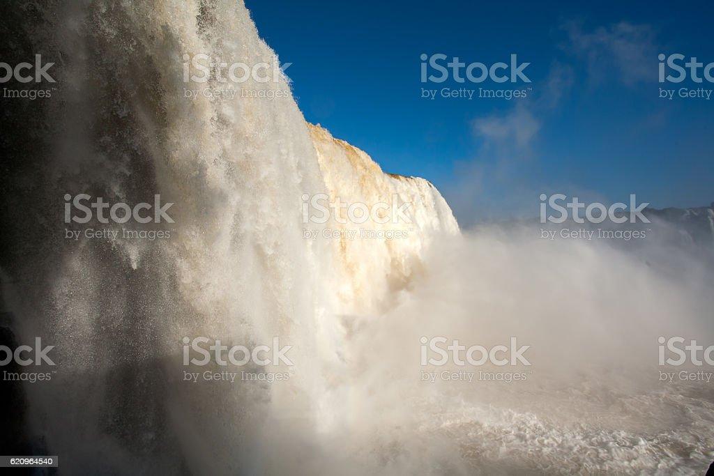 Waterfall in Iguazu national park stock photo