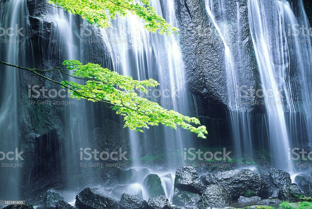 Waterfall in Japan royalty-free stock photo