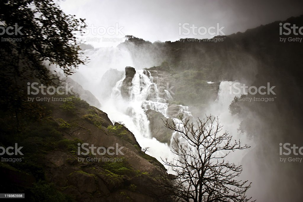 Waterfall in karnataka (India) royalty-free stock photo