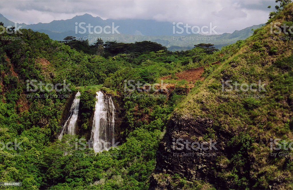 Waterfall in Kauai royalty-free stock photo
