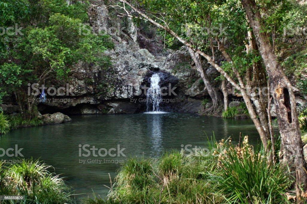 Waterfall in Kondalilla National Park near Montville stock photo