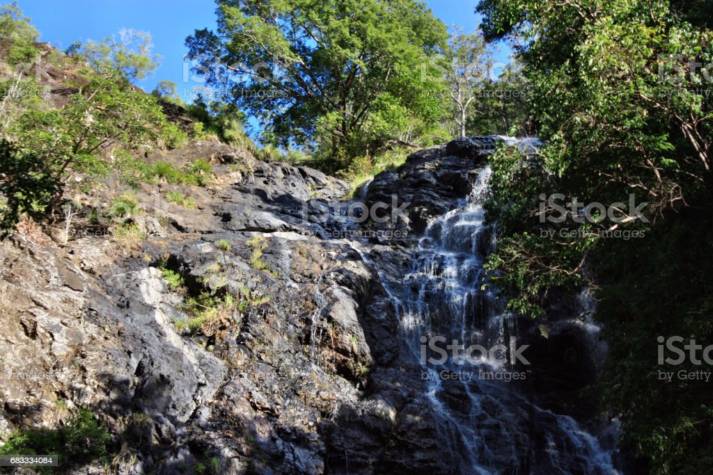 Waterfall in Kondalilla National Park near Montville royalty-free stock photo