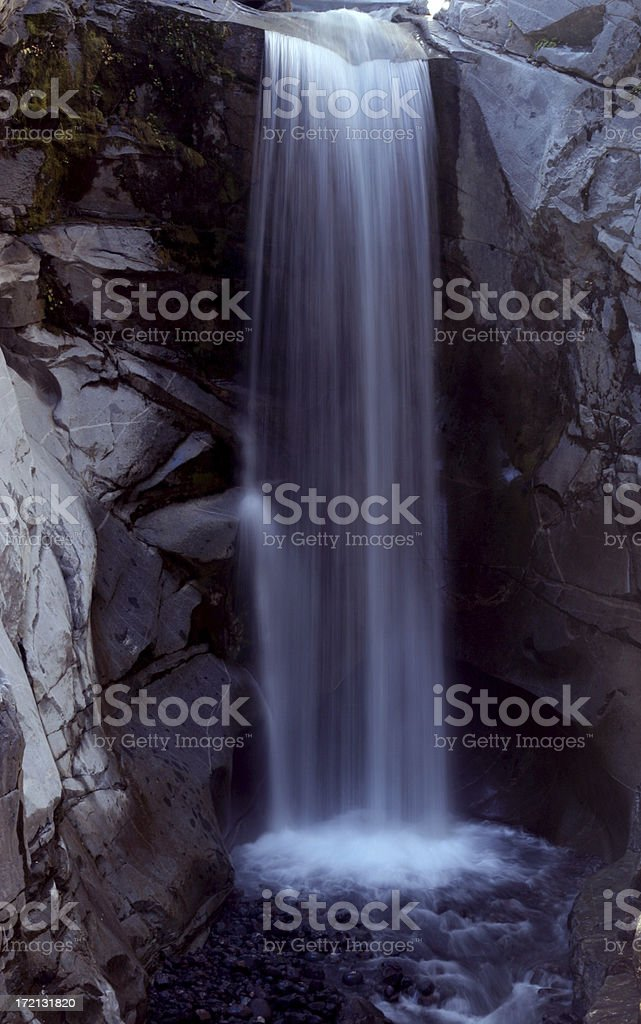 Waterfall in Mt. Rainier National Park royalty-free stock photo