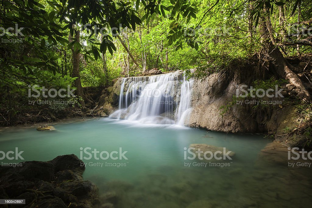 Waterfall in National Park royalty-free stock photo