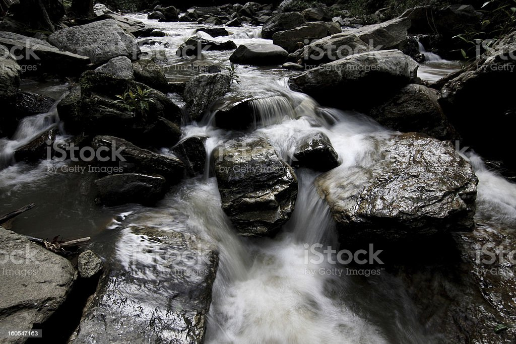 waterfall in national park, Thailand. royalty-free stock photo
