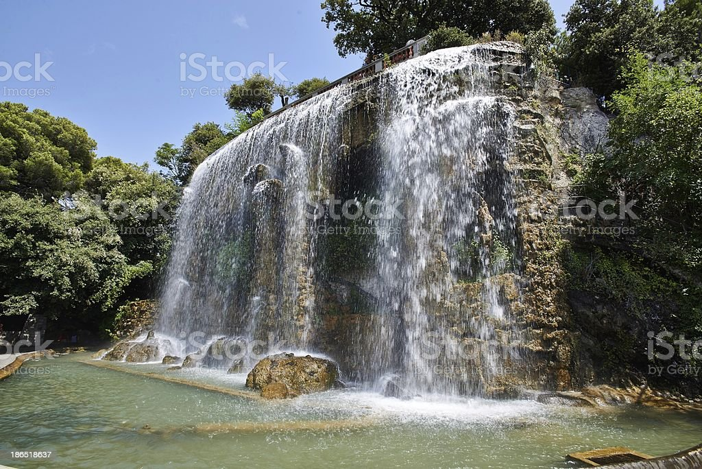 Waterfall in Nice France - HDR royalty-free stock photo
