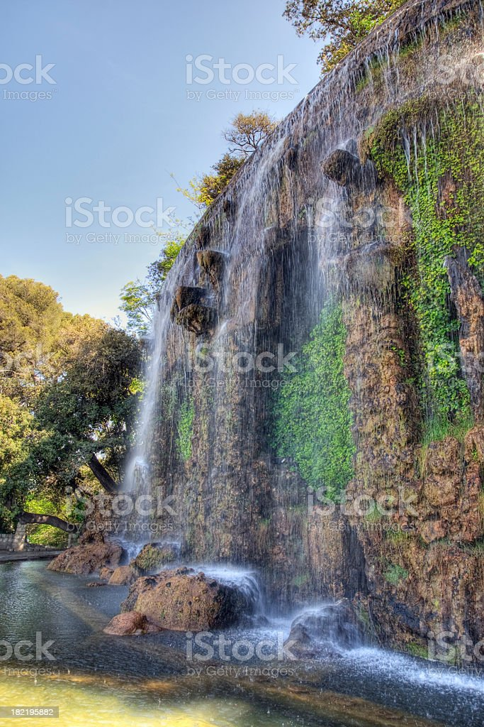 Waterfall in Nice, France royalty-free stock photo