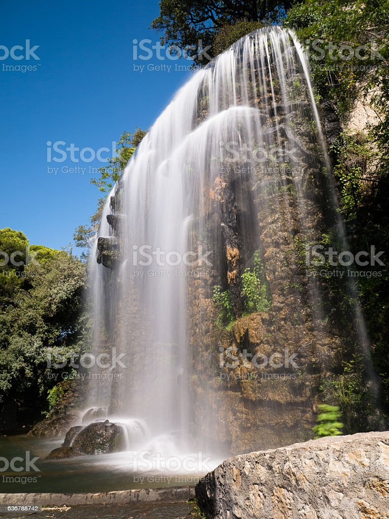 Waterfall in Nice - France stock photo