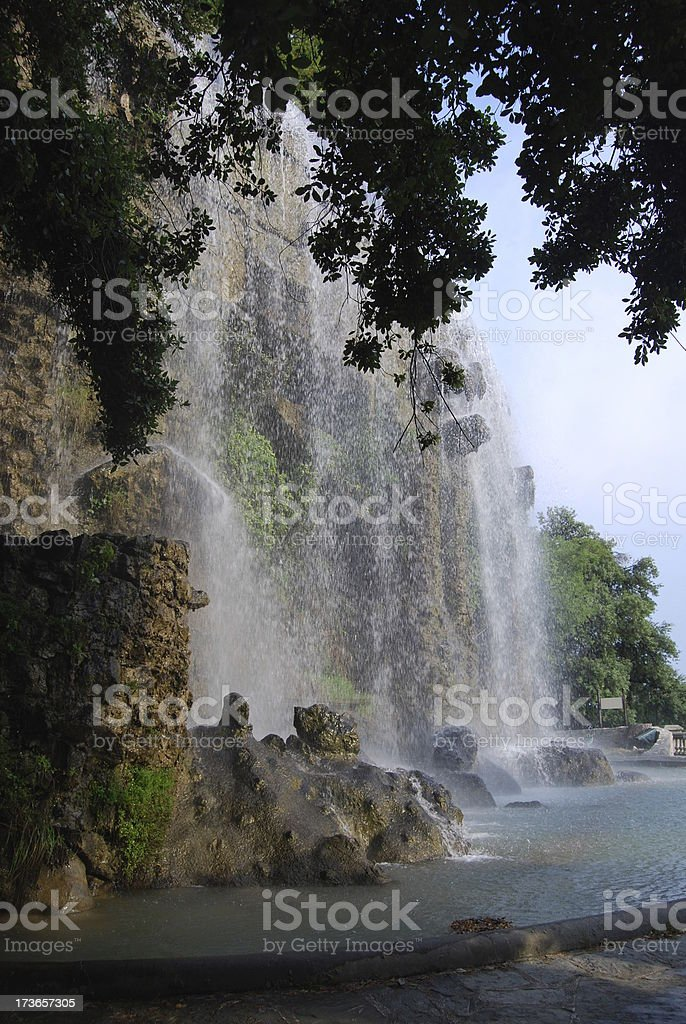 Waterfall in Nice royalty-free stock photo
