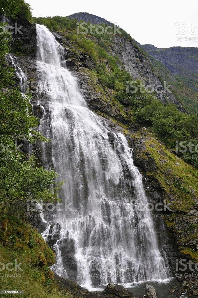 Waterfall in Norway stock photo