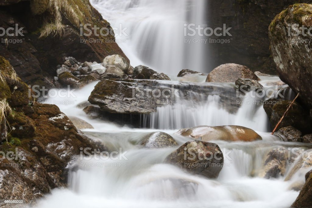 Waterfall in Norway photo libre de droits