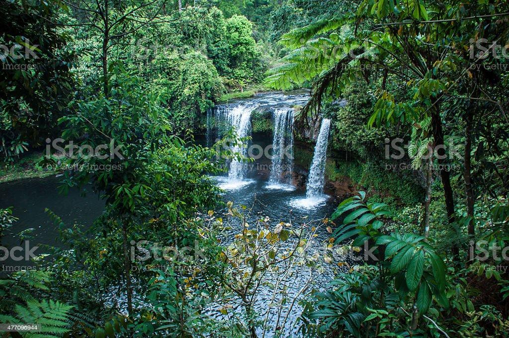 Waterfall in Pakse stock photo