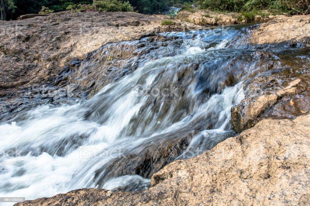 Cachoeira  no Bairro de Parelheiros, zona sul de São Paulo, SP royalty-free stock photo