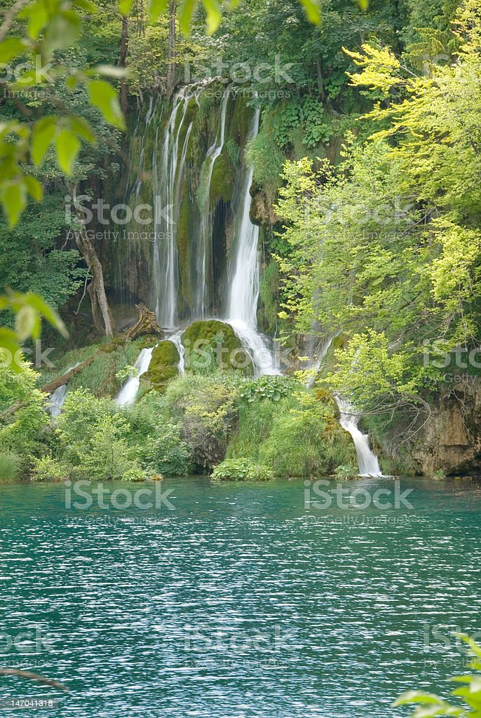 Waterfall in Plitvice royalty-free stock photo