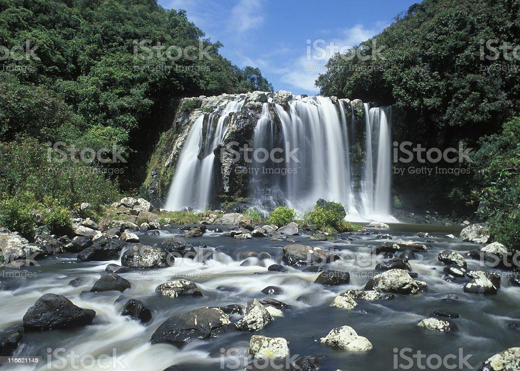 Waterfall in Reunion island royalty-free stock photo