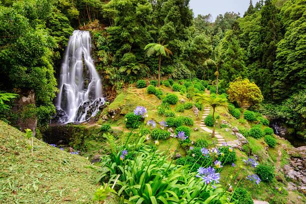 Wasserfall in Ribeira dos Caldeirões, Sao Miguel (Azoren) – Foto