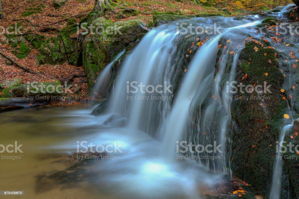Waterfall in river stock photo