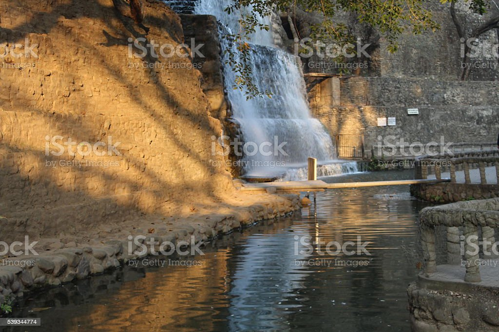 Waterfall in Rock Garden stock photo