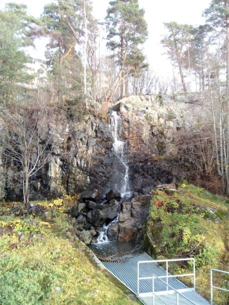 Waterfall in Södertälje stock photo