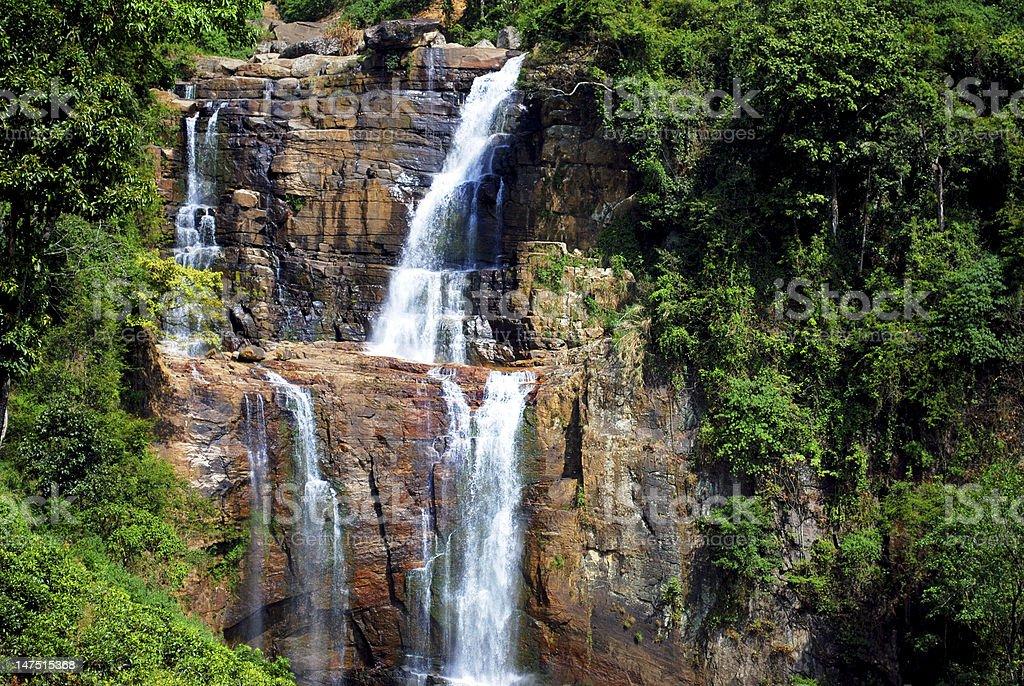 Waterfall in Srilanka. royalty-free stock photo