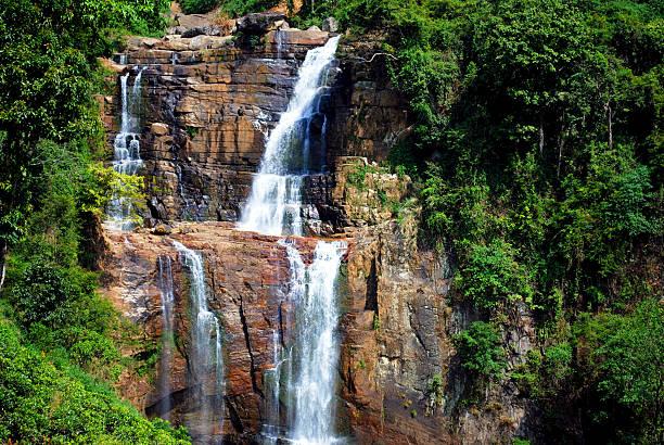 Waterfall in Srilanka. stock photo