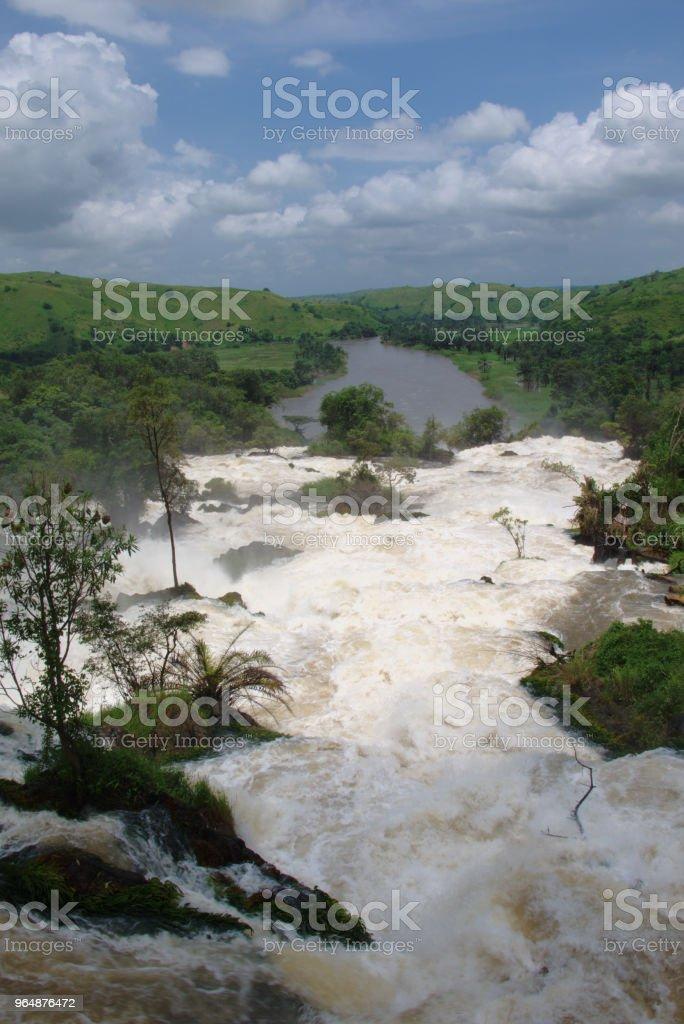 Waterfall in Sumbe, Angola royalty-free stock photo