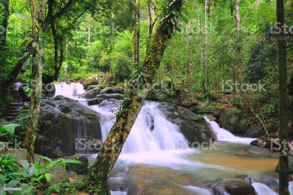 Waterfall in thailand stock photo