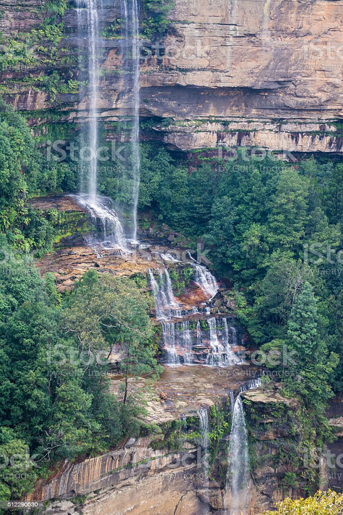 waterfall in the blue mountains near Sydney, Australia stock photo
